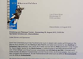 29. August 2013: Traditionelles Pétanque Plauschturnier